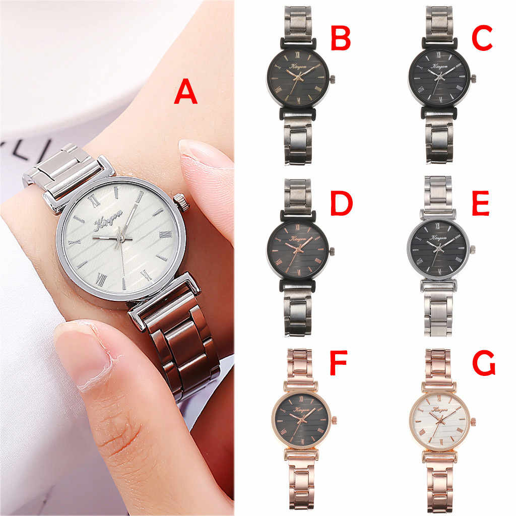 2019 Watch Women Luxury Alloy Steel Belt Casual Watches Simple bayan kol saati Quartz Wristwatch Zegarek Damski Reloj Mujer saat