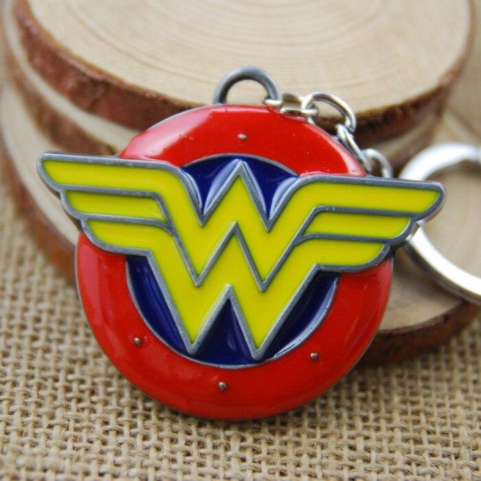 Movie Series Key Chains Wonder Woman Keyring Key Chains pendant Toy Figures for KeysChaveiro Llavero KeyRing KeyHolder porte