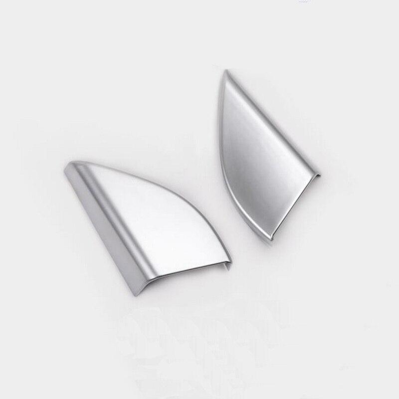 Tonlinker интерьерная передняя дверь окно Коннер крышка наклейка для Honda vezel HRV-19 автомобильный Стайлинг 2 шт. ABS хромированная крышка наклейка