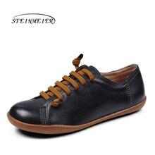 Erkekler rahat ayakkabılar erkek hakiki deri düz ayakkabı lüks marka flats ayakkabı dantel up loaferlar mokasen erkek ayakkabı