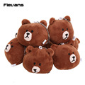 BROWN BEAR Teddy Bear Plush Toys with keychain Plush Pendant Toys Soft Stuffed Dolls 7.5cm 10pcs/lot