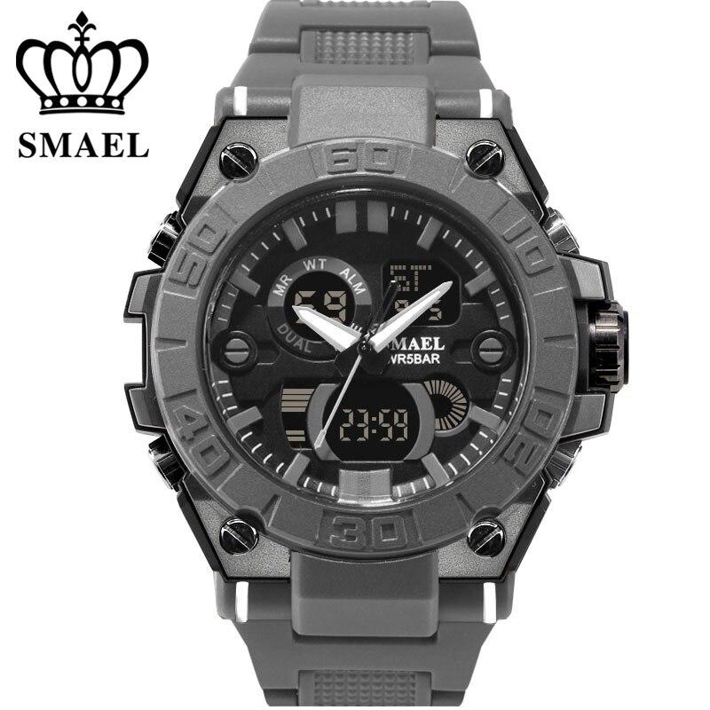 SMAEL Sport Männer Digitaluhr Männer Dual Display Wasserdicht Handgelenk  Armbanduhr Military Armee Männliche Uhr Relogio Masculino 189ca1e5856