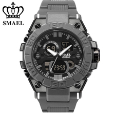 SMAEL Sport Men Digital Watch Men Dual Display Waterproof Wrist Wristwatch Military Army Male Clock Relogio Masculino Hodinky