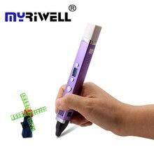 Myriwell three generation 3D pen USB interface 5V 2A creative drawing pen 3D graffiti pen best gift for children 3d printing pen