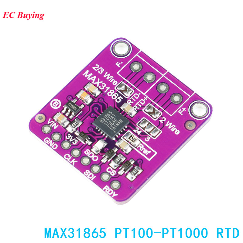 31865 MAX31865 Temperature font b Sensor b font Module GY MAX31865 RTD Digital Conversion Module Electronic