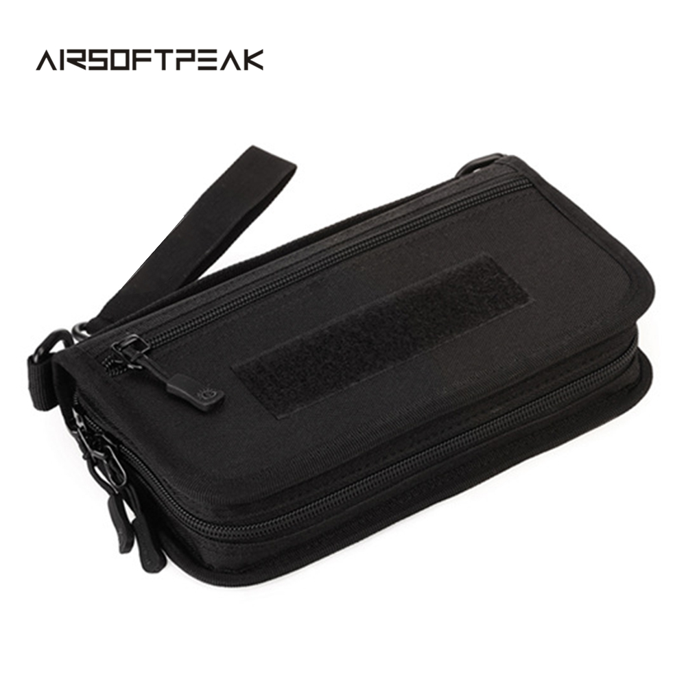 Airsoftpeak Outdoor Molle Tactical 6 inch Hand Bag Military Sports Mobil Phone Wallet EDC Pouch Hunting Travelling Wrist Bag~