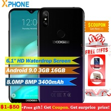 Doogee Y8 Android 9.0 4G LTE cep telefonu 19:9 6.1