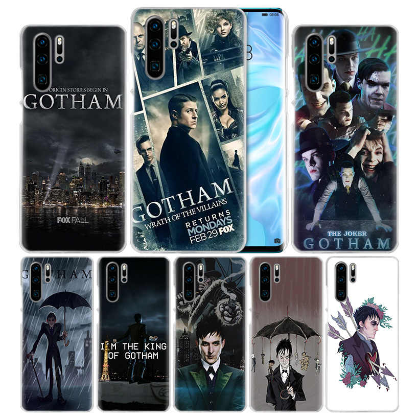 American TV Gotham untuk Huawei P20 P Smart Z Plus 2019 P30 P10 P9 P8 Mate 10 20 Lite pro Mini 2017 Hard PC Phone Cover Coque