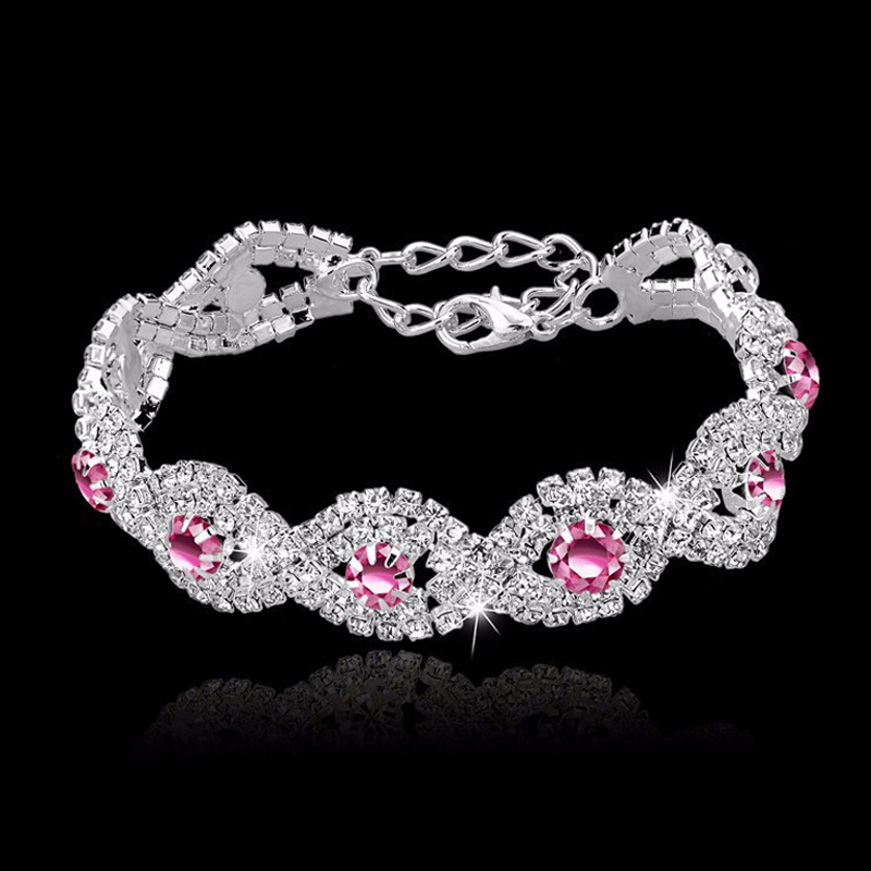 Toucheart crystal bracelets for women femme silver color charm toucheart crystal bracelets for women femme silver color charm bracelets bangles wedding jewelry with stones 2017 sbr140169 in charm bracelets from jewelry junglespirit Choice Image