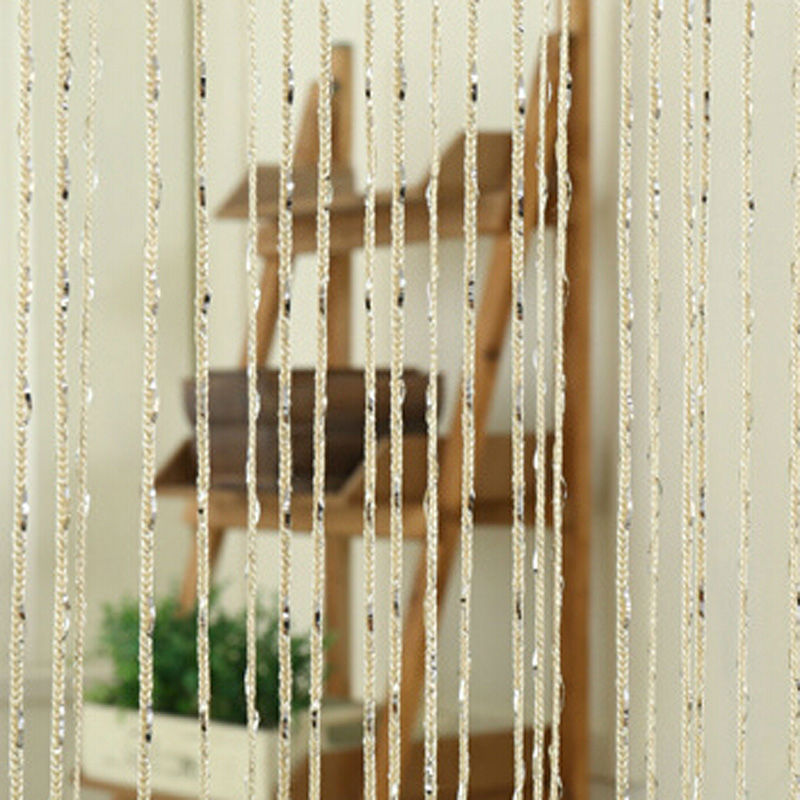 Thread String Curtain Decorative Line Curtains Partition Valance Sheer  Curtains For Door Living Room Window Bedroom Decor E5M1