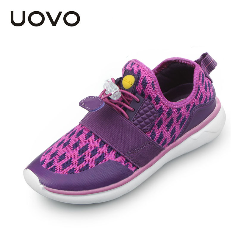 Spring Summer Kids Mesh Shoes Uovo Brand Boys Gilrs Sports Sneakers Students Casual Outdoor Shoes Light-weight Running Shoes