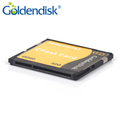 GoldenDisk CFAST 1.0 Geheugen 128GB SSD Card Wereld Mini SSD Flash Drive SATA Ii 3Gbps Quad Kanalen NANA MLC originele Flash 7 + 17P