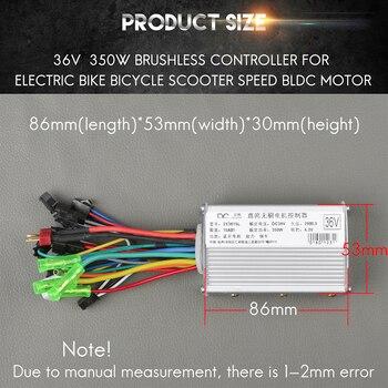 Bicicleta Electrica Controller 24V 36V 48V 250W 350W 15A Brushless Gear Ccontroller Motore del Mozzo Elettrico kit di Conversione della bici