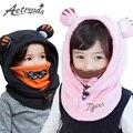 [AETRENDS] Милый Прекрасный Характер Капюшоном Младенца Крышки Зимние Шапки для Детей 1 ~ 12 Лет Масках Гуд Cap Z-5053