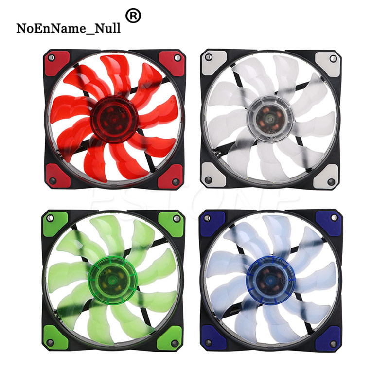 OUYAWEI Top PC Fan 12V 12cm Cooling Cooler Fan with Controller for Computer Silent Gaming Case White Light