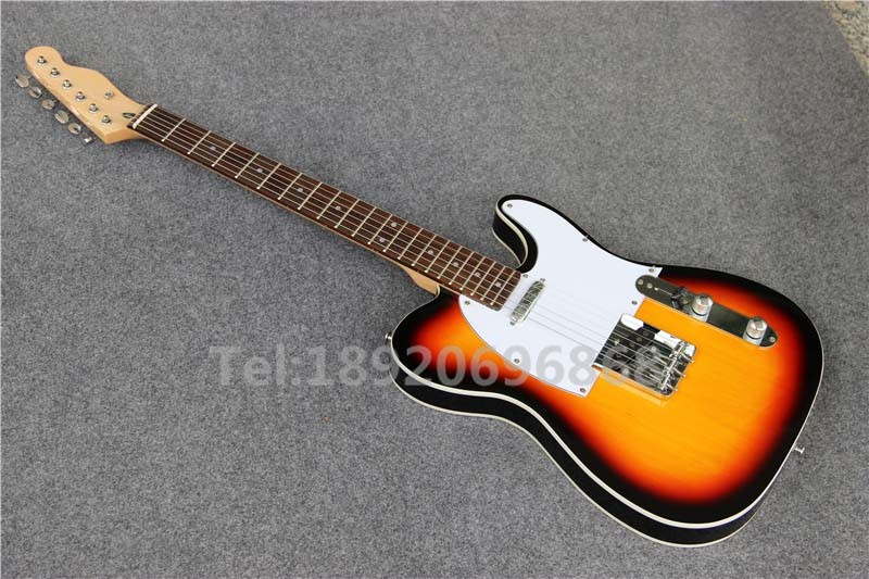 Custom Shop Standard Sunburst TL Electric Guitar,three Saddles Bridage, T55