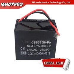 1 pces cbb61 16uf partida capacitância ac ventilador capacitor igmopnrq 450v cbb motor executar capacitor