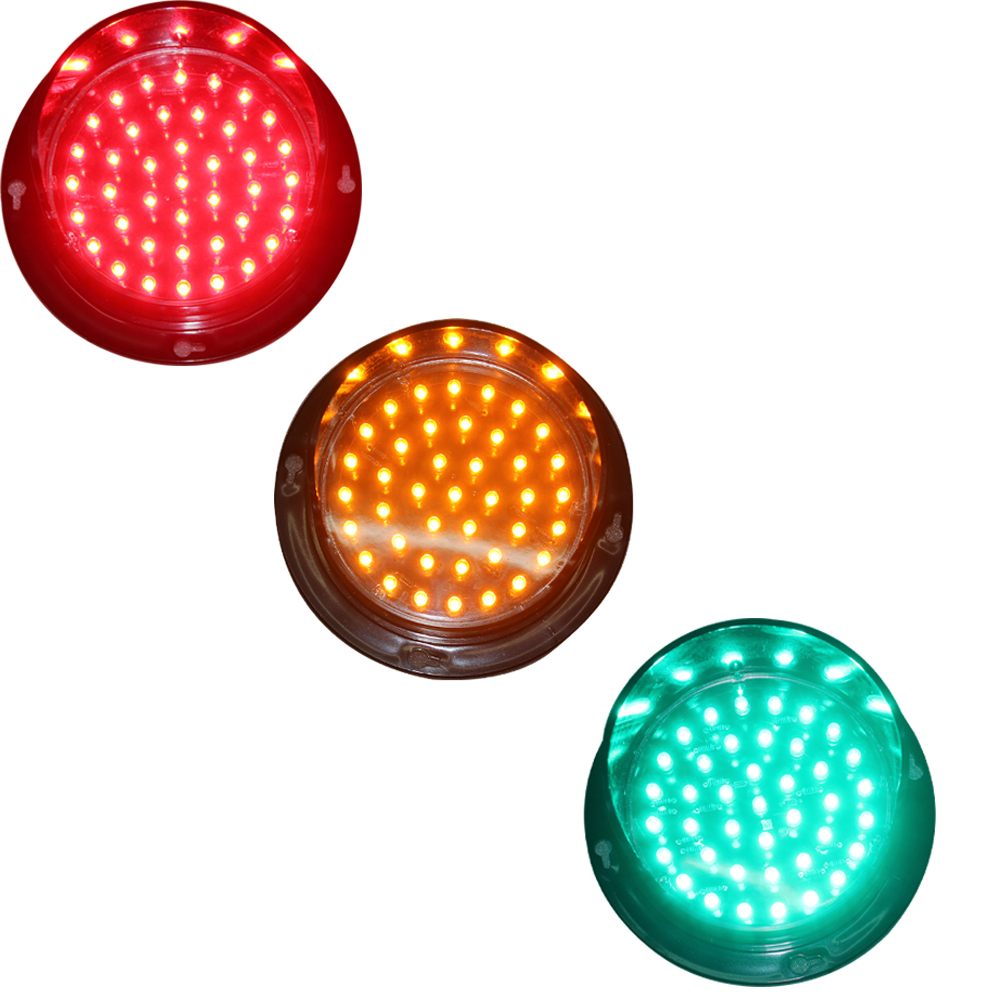 New Customized 100mm Traffic Signal Light Lamp Cluster Module Red Yellow Green One Pack Dc 12V