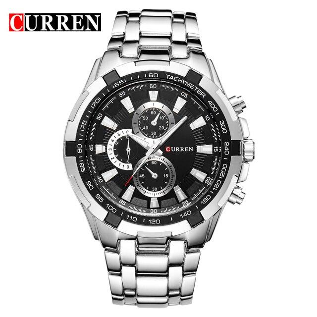 CURREN Quartz men Watches Top Brand Luxury Men Military Wrist Watches Full Steel Men Sports Watch Waterproof Relogio Masculino