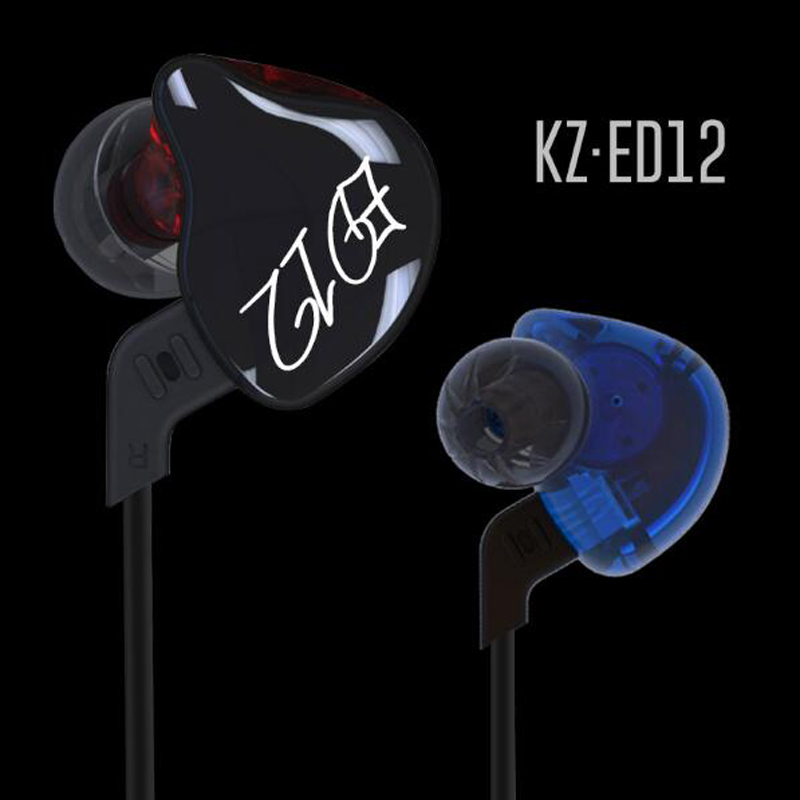 KZ ED12 Earphone Detachable Cable In Ear Audio Monitors Noise Isolating HiFi Music Sports Headset Earbuds With Microphone  dhl free 2pcs black white m6 pro universal 3 5mm wired in ear earphone noise isolating musician monitors brand new headphones