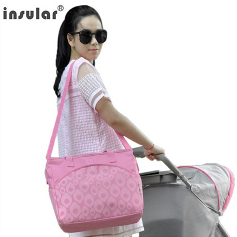 Insular Brand women shoulder bag multi functional high capacity mummy bag pregnant bag baby nappy bags in Diaper Bags from Mother Kids
