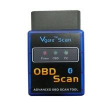 Vgate Супер Мини ELM327 Bluetooth OBD2 V1.5 Автомобиля Диагностический Интерфейс Сканера ELM 327 V1.5 OBDII Автоматический Диагностический Сканер Инструмент