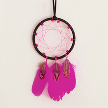 Bohemian style wooden beads dream cather net home decoration wall at bar tea room wind bell girls gift