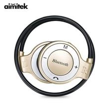 Neckband di Sport Auricolari Bluetooth Stereo Senza Fili Cuffie MP3 del Giocatore di Musica Cuffie Carta di TF Vivavoce Mic per il iphone Xiaomi