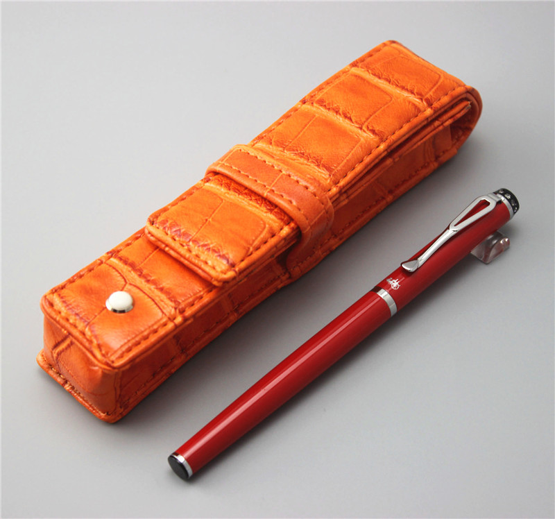 red JINHAO ballpoint Pen and pen bag School Office Stationery brand roller ball pens men women business gift send a refill 010 silver jinhao ballpoint pen school office stationery high quality dragon roller ball pens luxury business gift send a refill 004