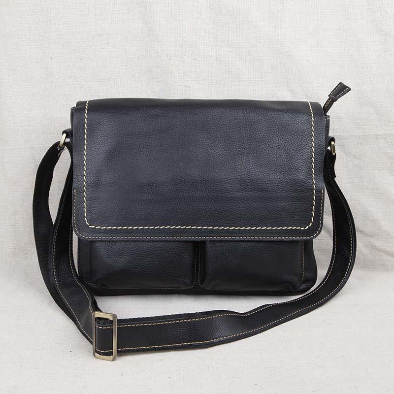 AETOO Original leather men's bag top layer leather shoulder bag Messenger bag cross section men's casual