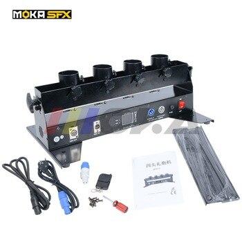 Boda máquina de confeti cañón de confeti DMX 512 controlador 4 titular tirador de confeti lanzador de la máquina