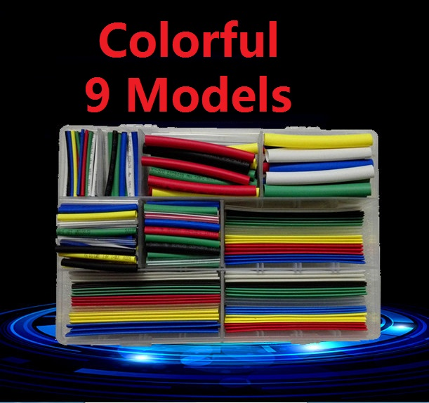 2:1 Assortment Polyolefin Halogen-Free Heat Shrink Tubing Tube Sleeving Wire Cable Kit Thicken Retardant Colorful Transparent DS цена