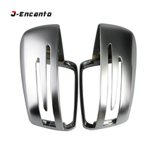 For Mercedes Benz W204 A G L C E S Class W176 W246 W204 W212 W221 CLA C117 Side Wing Mirror Covers Caps Silver Matte Chrome