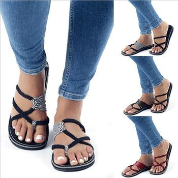 2018 Fashion Summer Flip Flops Women Slippers Leisure Female Ladies Beach Outdoor Summer Slippers Casual Women Shoes DC121