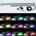 4pcs RGB LED Under Car Glow Underbody System Neon Lights Kit W/sound and Control 60CM+90CM