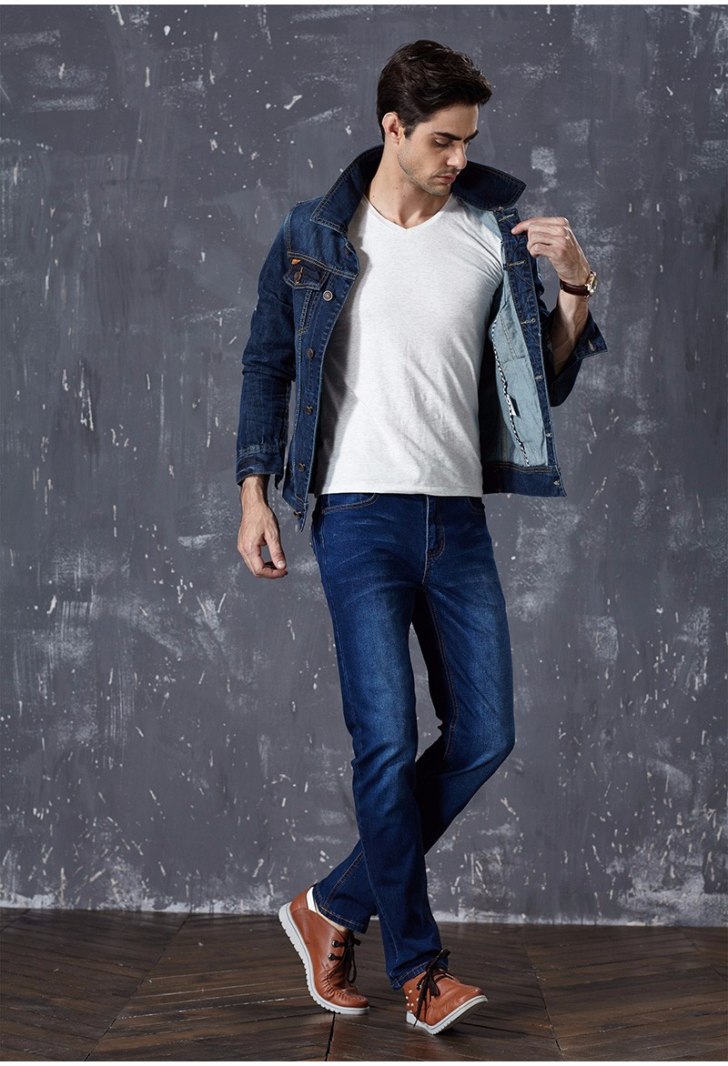 Drizzte Brand New Fashion Mens Jeans Slim Stretch Pants Thin Denim Trousers Size 35 36 38 40 42 Lightweight Jeans for Men 7