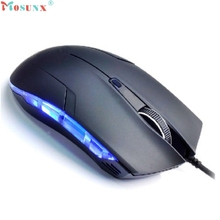Hot sale MOSUNX 127 x 64 x 39mm 1 5m Cable Optical 6 Buttons 1600 DPI
