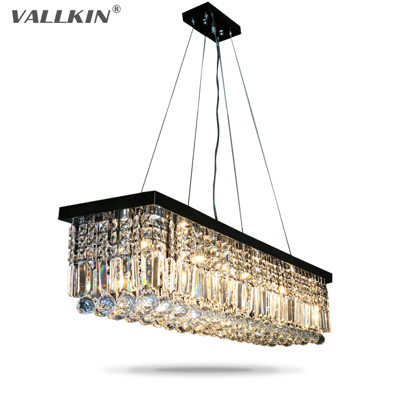 LED Crystal Pendant Lights Black Pendant Light Fixtures for Dining Room Living Room Study Indoor Home Hanging Lamps Lighting fashional black white pendant lamps good looking hanging lights for indoor decoration for dinning room living room rest room