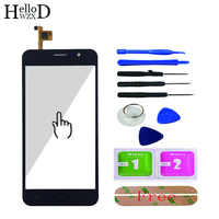 5.0 Front Touch Screen Touchsreen For Homtom HT16 HT 16 Touch Screen Glass Digitizer Panel Lens Sensor Capative + Adhesive Gift