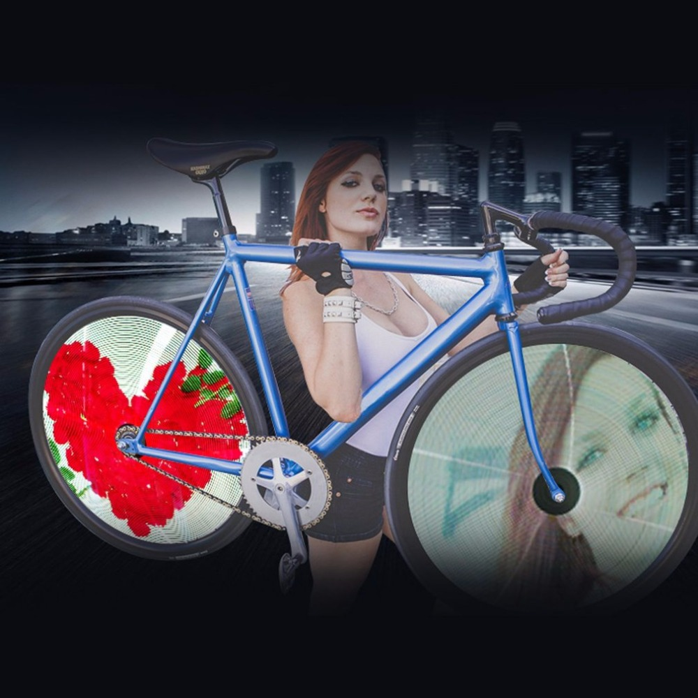 New Bicycle Wheel Light Double Display LED GIF Photo Spokes Light DIY Patterns RGB Download Lovely Image for Bikes Night Riding new approaches for image retrieval