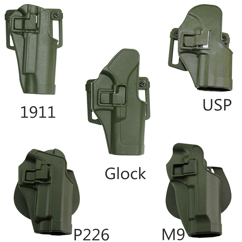 Tactical Military Airsoft Pistol Holster For Glock 17 18 19 26 31 /M9/USP/1911/SIG P226 Gun Case Hunting Paintball Belt Right