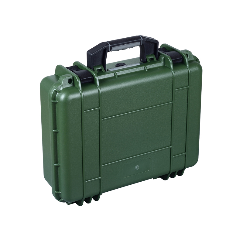 Army green Corrosion resistant hard plastic case with pick pluck foam sq2620 high impact pp simple plastic tool case with pick pluck foam inside