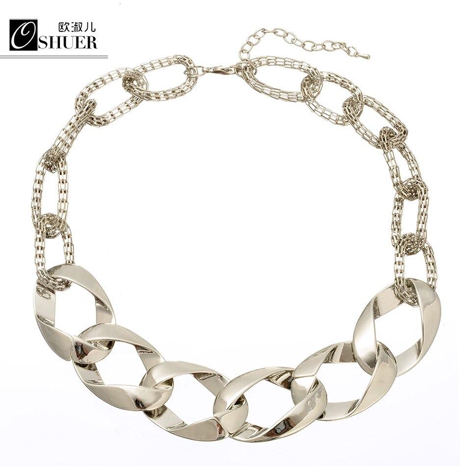 ᗗOshuer Горячие Модные украшения золотой металлической цепочкой ... 1a9125400fd