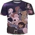 Undertale Pacifista Camiseta 3d camiseta de la historieta galaxy vibrant tees mujeres camiseta de los hombres de manga corta tops casual t-shirt