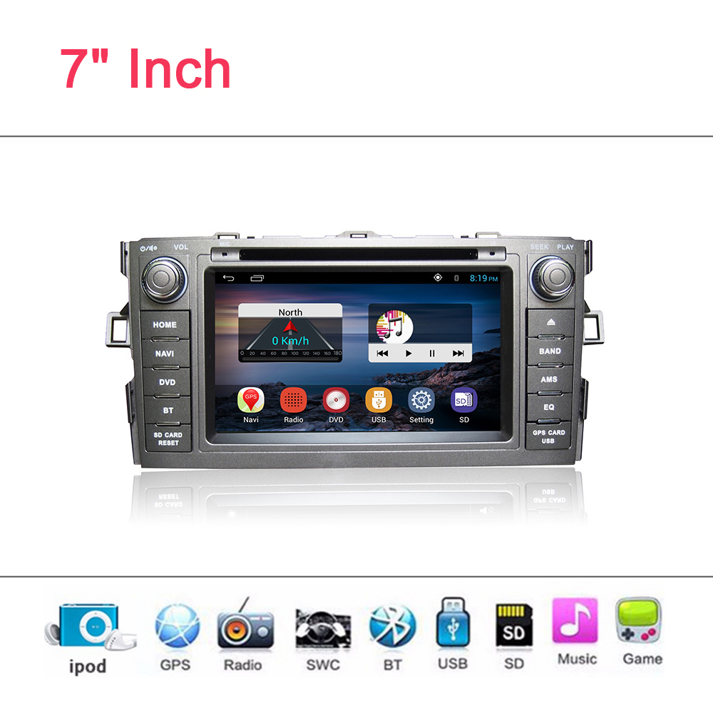 YESSUN Car DVD Player Android System For Toyota Auris Auto radio Car Radio Stereo GPS Navigation Multimedia Audio Video