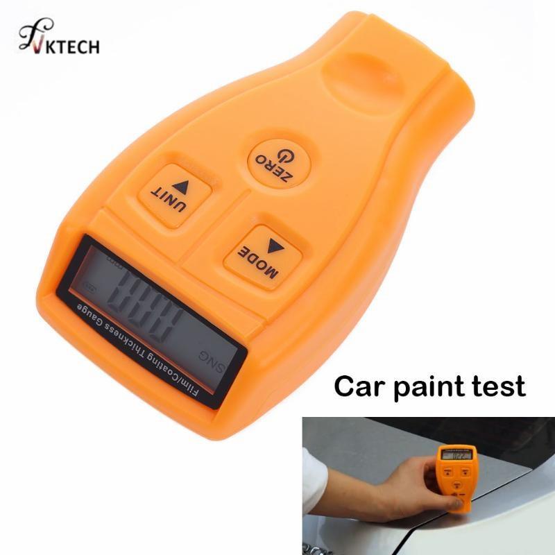GM200 revestimiento pintura medidor de espesor Tester de película Mini revestimiento de pintura de coche más delgado medidor de espesor