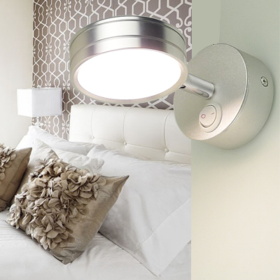 Universal head LED bedroom adjustable light wall lamp simple wall hanging wall eye reading lamp