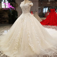 AIJINGYU Lustrous Satin Long Bridal Gown Wedding Dresses