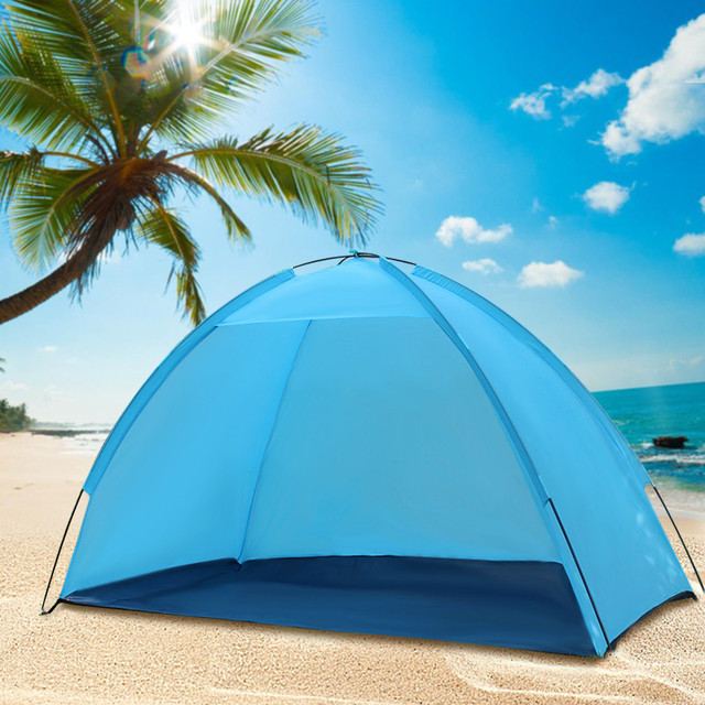 High Quality Beach Umbrella Tent Weather Shelter Sand Sun Shade Outdoor Uv Protect Camping