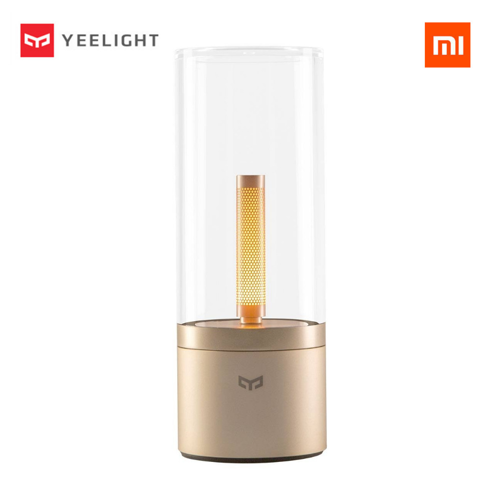 2018 Original xiaomi Desk Lamps YEELIGHT mijia Candela Smart Control led night light,Atmosphere light for Mi home app original xiaomi yeelight led smart bulb colorful e27 9w 600 lumens mijia light xiaomi smart phone wifi remote control